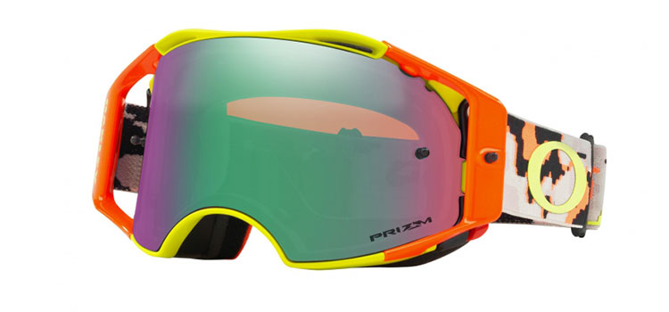 Oakley Airbrake MX Thermo Camo Army Orange / Prizm Jade Iridium Crossbrille