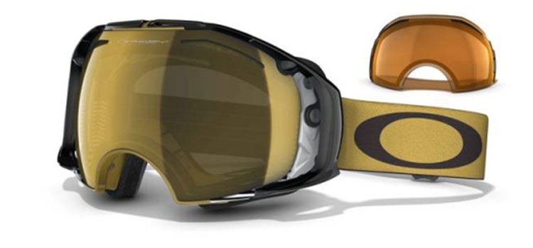 Oakley Airbrake Snow Shaun White Signature Series Gold Future Primitive / 24K Gold Iridium + Persimmon Snowbrille