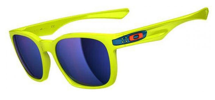 Oakley Garage Rock Fathom Collection Neon Yellow / Ice Iridium Sonnenbrille